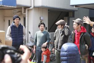 左から国本さん、湊さん、佐藤さん、廣岡さん。良鳩部はこの街を理想郷に、という思いから名付けられました