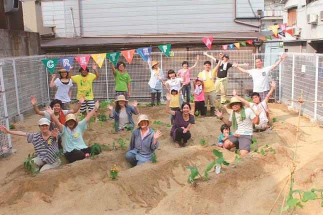 大阪市・北加賀屋にある「みんなのうえん」。企業の遊休地を活用し、参加者が土地を耕した