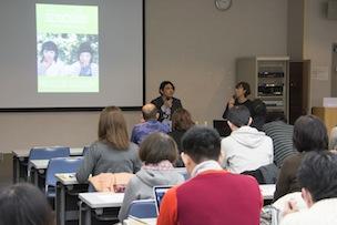 講師には「みんなのうえん」の西川亮さん(左)と雑誌『ecocolo』の編集長・石田エリさん