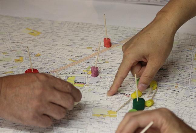 もしもの時の行動を地図上でシミュレーション