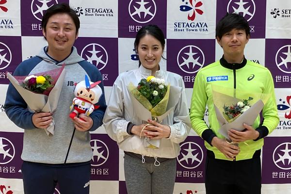 左から新井大基さん、田中琴乃さん、長谷川大悟さん